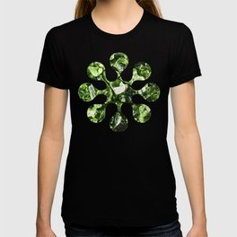 Vibrant greenery crystal rocks T-shirt