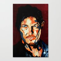 daryl Canvas Prints featuring Daryl by SweetAshArts