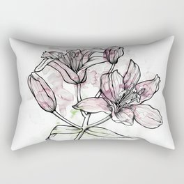 BW DAY LILY Color Splash 2 Rectangular Pillow