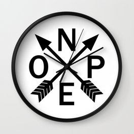 Compass Nope Wall Clock
