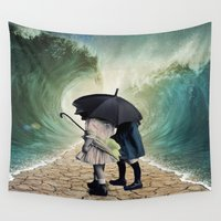waves Wall Tapestries featuring Waves by Cs025