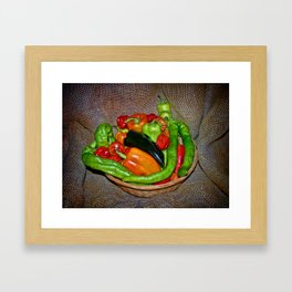 Spicy havest Framed Art Print