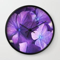 Vintage Hydrangena Wall Clock