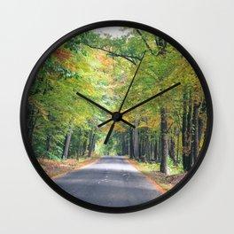New Beginnings - Fall Colors Wall Clock