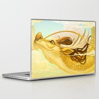 asian Laptop & iPad Skins featuring Asian Dragon by Sunset Dragon
