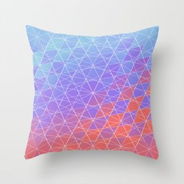 Crystallized Spider Web Throw Pillow