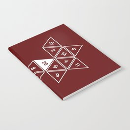 Red Unrolled D20 Notebook