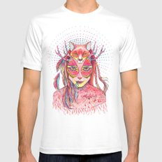 spectrum (alter ego 2.0) White MEDIUM Mens Fitted Tee
