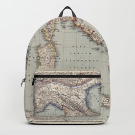 Bella Italia Vintage Map Of Italy Backpack