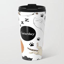 Caturday Metal Travel Mug