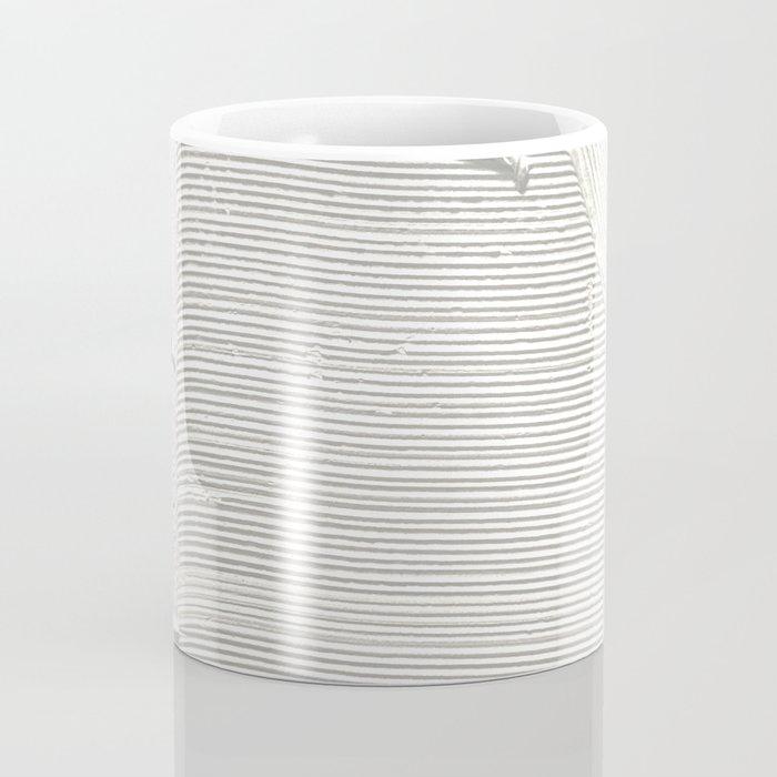 Relief [2]: an abstract, textured piece in white by Alyssa Hamilton Art Kaffeebecher