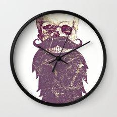 Beard Skull 3 Wall Clock