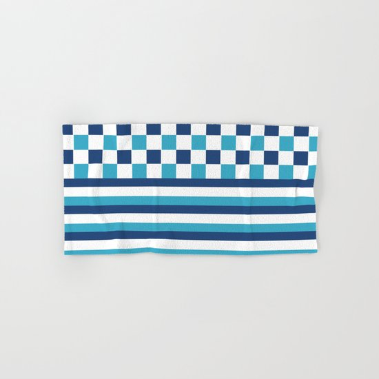Blue summer stripes Hand & Bath Towel
