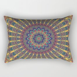 Bohemian oval mandala Rectangular Pillow