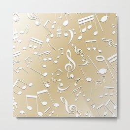 Musical Notes 11 Metal Print