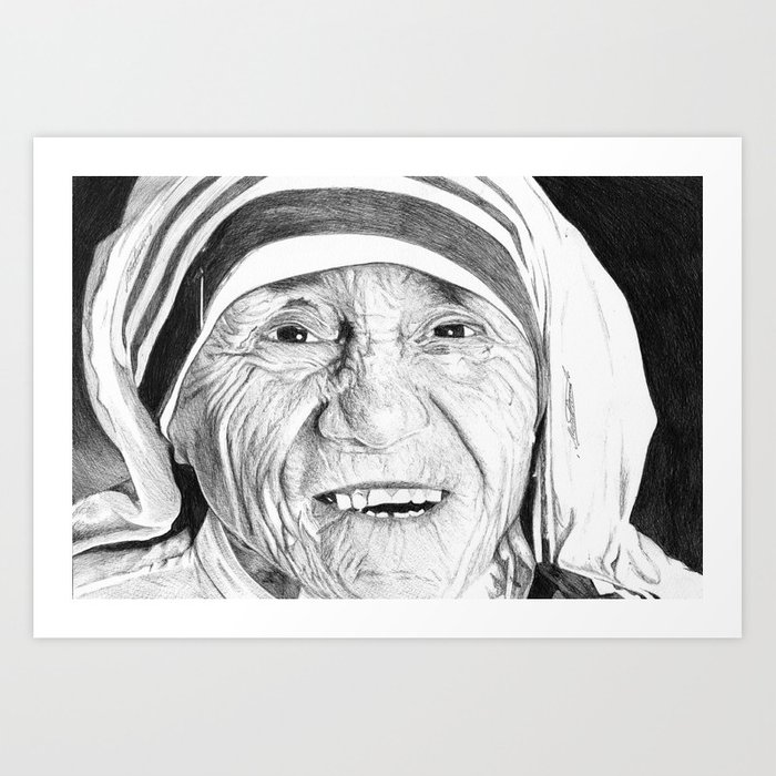 Drawing Art Mother Teresa