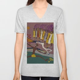 African American Masterpiece Swing Low, Sweet Chariot, by William Henry Johnson Unisex V-Neck