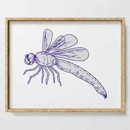 Dragonfly Flying Drawing Side Serving Tray