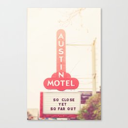 Iconic Austin Motel x Austin Texas Canvas Print