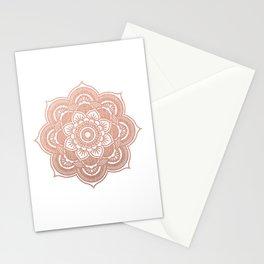 Rose gold mandala Stationery Cards