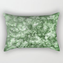 Green Diamonds Rectangular Pillow