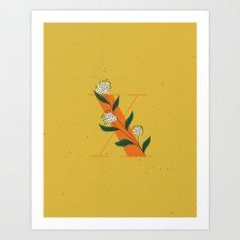 X for Xylosma Art Print