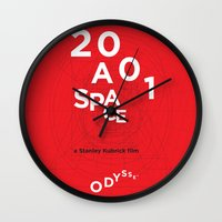 2001 a space odyssey Wall Clocks featuring 2001: a space odyssey by Rodrigo Müller