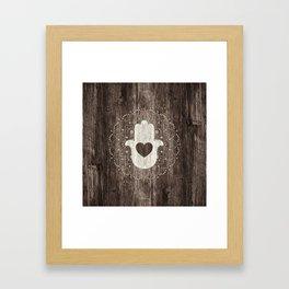 Boho Heart in hand Framed Art Print