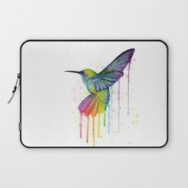 Hummingbird Rainbow Watercolor Laptop Sleeve