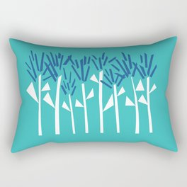 Tropical Blue Plants by Emma Freeman Designs Rectangular Pillow