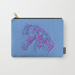Chiseled Pink Horse Carry-All Pouch