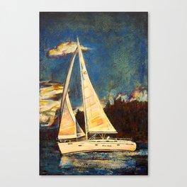 Blue Duet Canvas Print