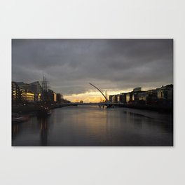 Sunset on the Liffey Canvas Print