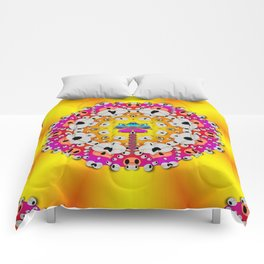 Fantasy flower in tones Comforters
