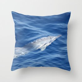 Dolphin breathing bubbles Throw Pillow