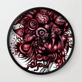 Spaceship Girl_Red Wall Clock