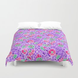 Andean Flowers (Pink & Green) Duvet Cover