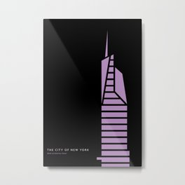 New York Skyline: Bank of America Tower Metal Print