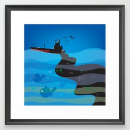 go humans! Framed Art Print