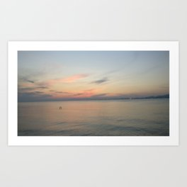 Greece landscape | the sea Art Print
