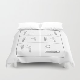 Bobby and Magy Duvet Cover