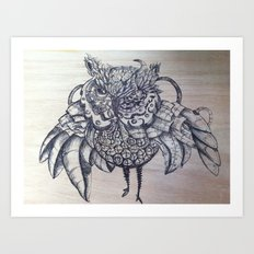 Punk'n Owl Art Print