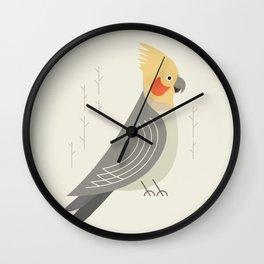 Cockatiel, Bird of Australia Wall Clock