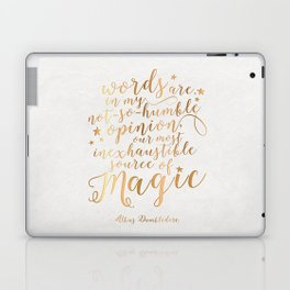 Dumbledore's Magic Words Laptop & iPad Skin