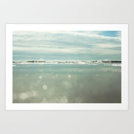 waves and sparkles Art Print