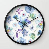 matty healy Wall Clocks featuring Dreaming of Spring by Klara Acel
