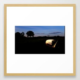 Sunset on Moody Bridge Road Framed Art Print