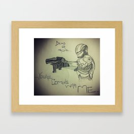 The Future of Law Enforcement Framed Art Print