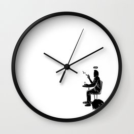 Angel shutdown Wall Clock