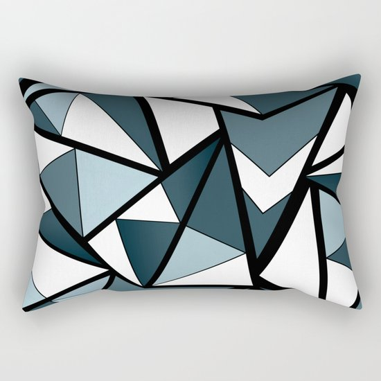 Geometric pattern in grey and white tones . Rectangular Pillow